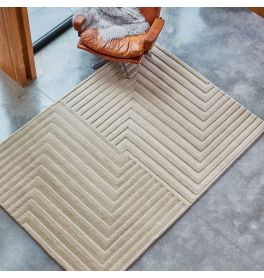 Form Rug Natural Colour 3D Wool Pile