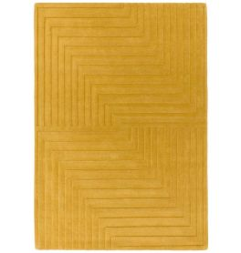 Form Rug Ochre Colour 3D Wool Pile