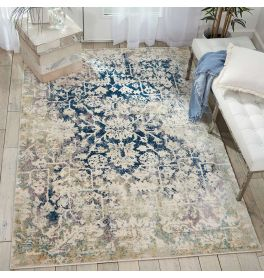 Fusion Rug Cream Blue FSS12