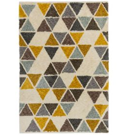 Gala Rug GA04 Yellow Triangle