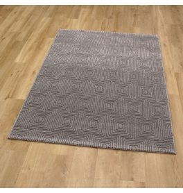 Geo Rug Plain Dark Grey Geo 09 7131