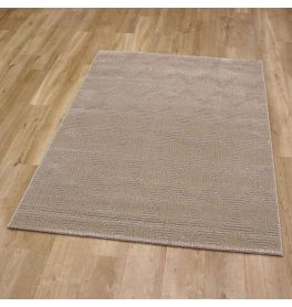 Geo Rug Plain Golden Beige Geo 09 9191