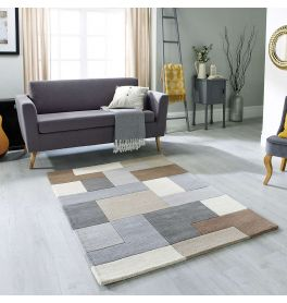 On Sale Lexus Neutral Wool Rug 120x170cm