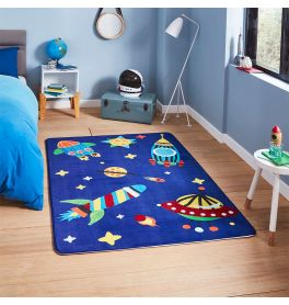 Inspire G3420 Childrens Rocket Blue Rug