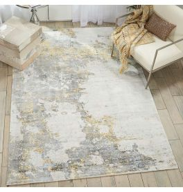 On Sale Kathy Ireland Rug KI371 Ivory Gold 160x226cm