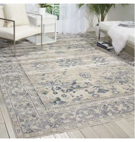 On Sale Kathy Ireland Rug Malta MAI05 Ivory Blue 274x366cm