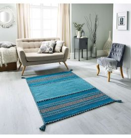Blue Rugs Teal Duck Egg Navy