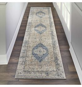 Traditional KI25 Malta MAI11 Ivory Blue Rug