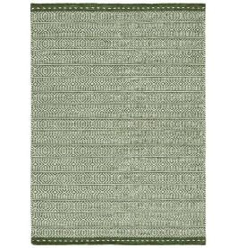 Knox Reversible Rug Green Wool Dhurry