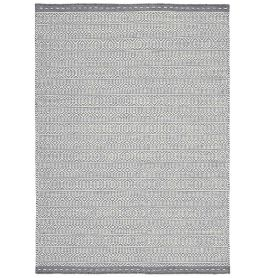 Knox Reversible Rug Grey Wool Dhurry