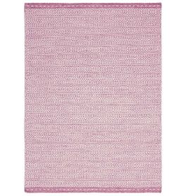 Knox Reversible Rug Pink Wool Dhurry