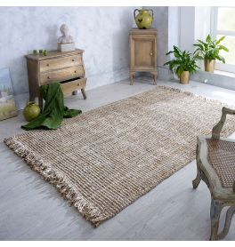 Jute Lago Gold Brown Flatweave Rug