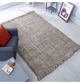 Jute Lago Grey Brown Flatwoven Rug