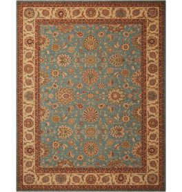 Living Treasures Woolen Rug Aqua LI05