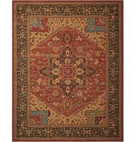 Living Treasures Woolen Rug Rust LI01