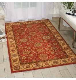 Living Treasures Woolen Rug Rust LI05