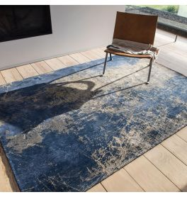 Mad Men Cracks Rug 8629 Abyss Blue