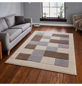 Matrix MT04 Beige Grey Stylish Rug