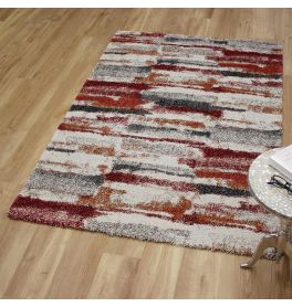 Mehari Rug 6181 Ivory Cherry Orange