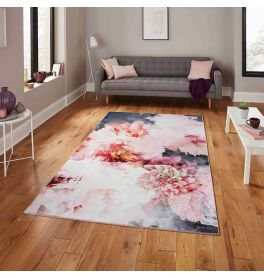 Michelle Collins FLOO24 Rose Black Rug