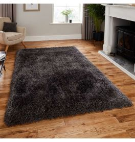 Montana Shaggy Rug Dark Grey