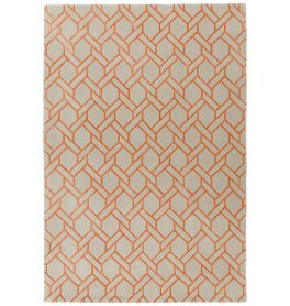 Nexus Rug Fine Lines Silver Orange