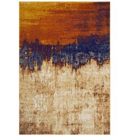 Nova Rug NV04 Distressed Orange