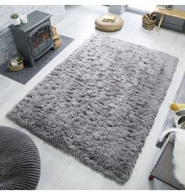 Orso Grey Shaggy Rug