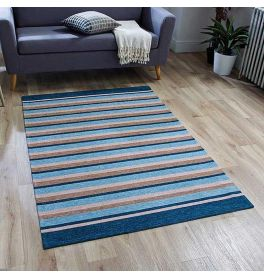 Pacific 176X Rug Blue Stripes 120x160cm