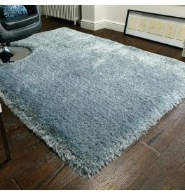 Pearl Shaggy Rug Duck Egg