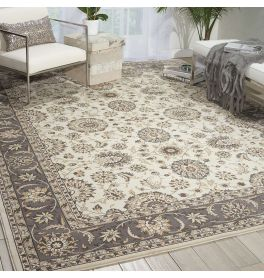 Persian Crown Rug PC002 Ivory Grey