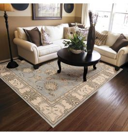Persian Empire Wool Rug PE22 Aqua