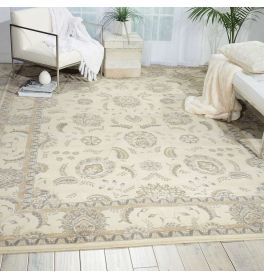 Persian Empire Wool Rug PE22 Bone