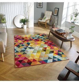 Sale Piccadilly 526 X Vibrant Geometric Rug 120x170cm