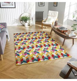 Piccadilly 564 Y Vibrant Geometric Rug