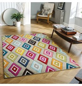 Piccadilly 5996 E Vibrant Geometric Rug