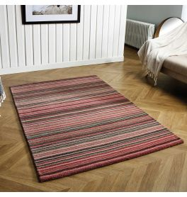 Carter Pink Striped Wool Rug