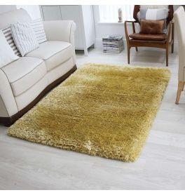 Plush Ultra Thick Yellow Rug