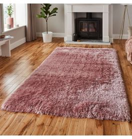 Polar Fluffy Rug Rose