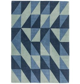 Reef Rug RF04 Flag Blue Wool