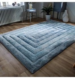 Ridge Rug 3D Silky Duck Egg 160x230cm