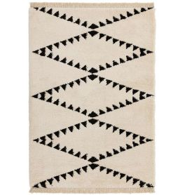 Rocco Cream Shaggy Tassels Rug RC03