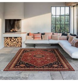 Royal Kashqai Rug Red Wool Traditional Style 64 301