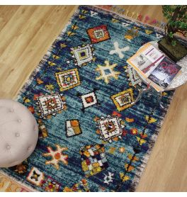 Royal Marrakech Rug Turquoise Grey 2207B
