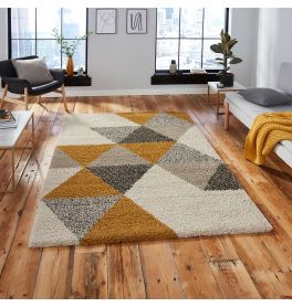 Royal 5741 Nomadic Diamonds Beige Ochre Rug