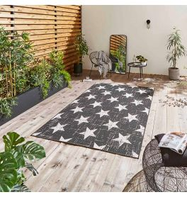 Santa Monica 48648 Black White Rug