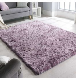 Shadow Mauve Shaggy Rug