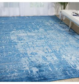 Silk Shadows Rug SHA10 Ocean Blue
