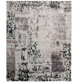Silk Shadows Rug SHA16 Silver Grey