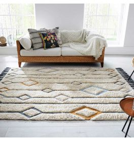 Solitaire Beau Rug Cream Multi